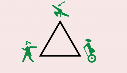 数学クイズ「三角形でぶつかる少女」の答えが意外と簡単